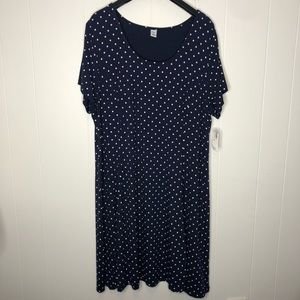 NWT Old Navy Navy blue fit & flare dress. Size XXL